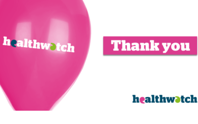 Thank you: Over 140 People tell Healthwatch Dorset what they think would make the NHS better